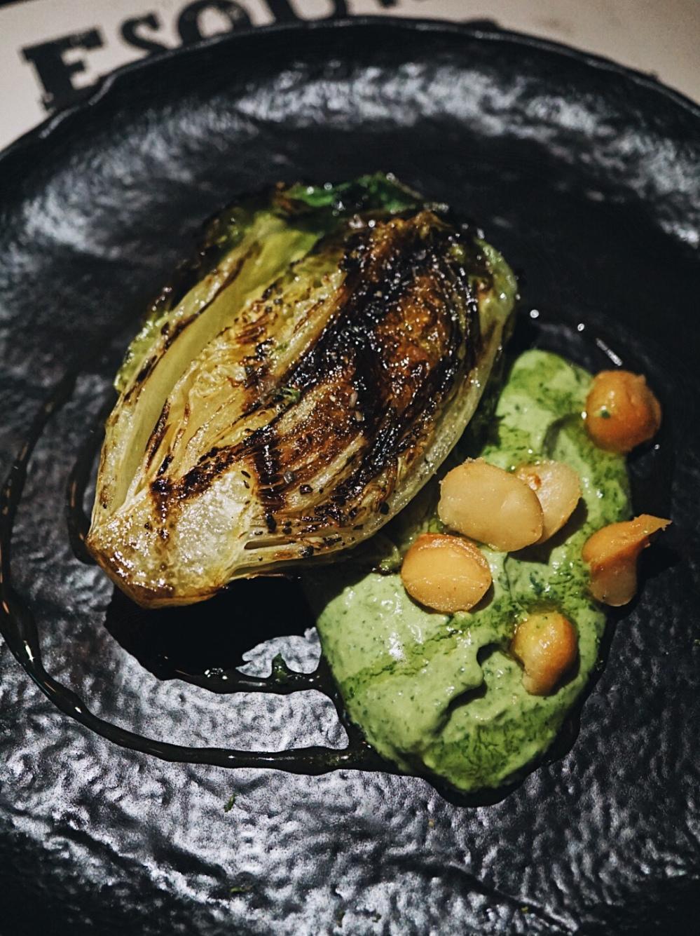 Grilled Sucrine Lettuce Esquina Singapore Spanish Restaurant